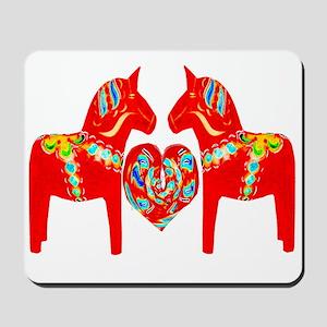 Swedish Dala Horses Mousepad