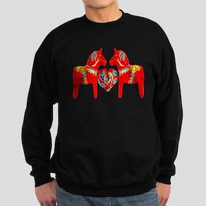 Swedish Dala Horses Sweatshirt (dark)