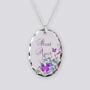 Best Aunt Necklace Oval Charm