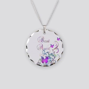 Best Aunt Necklace Circle Charm