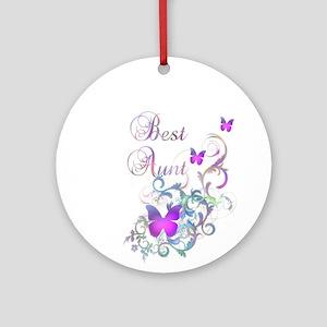 Best Aunt Ornament (Round)