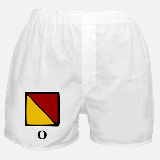 Nautical Letter O Boxer Shorts