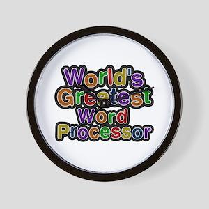 World's Greatest Word Processor Wall Clock