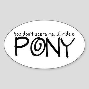 Pony Sticker (Oval)