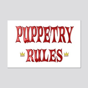 Puppetry Rules Mini Poster Print