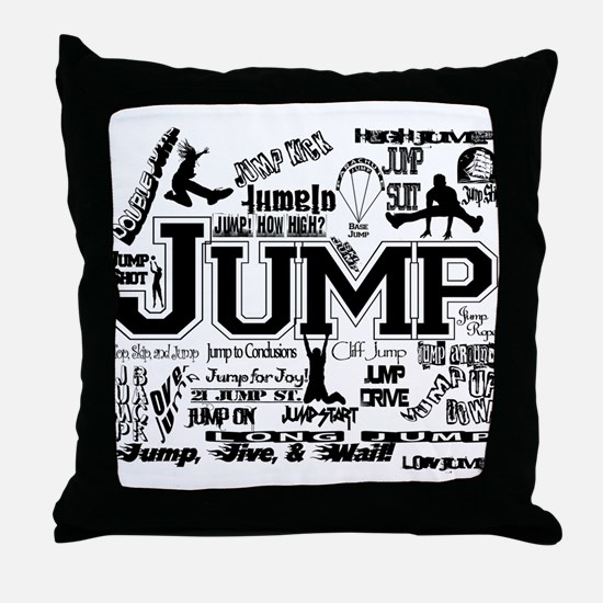 Unique Jump rope Throw Pillow