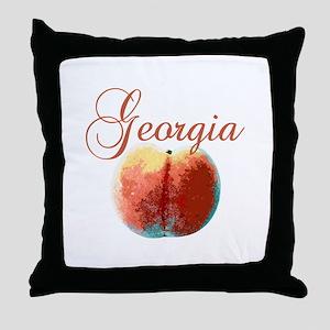Georgia Peach Throw Pillow