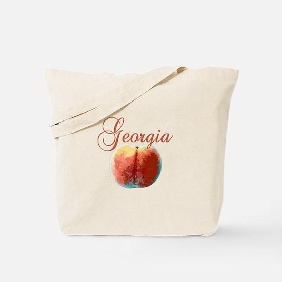 Georgia Peach Tote Bag