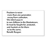 Freedom Sticker (Rectangle 10 pk)