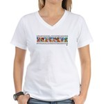 IT'S MY MONEY Women's V-Neck T-Shirt