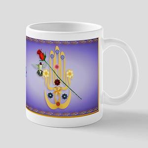 Hamsa and Flowers Mug