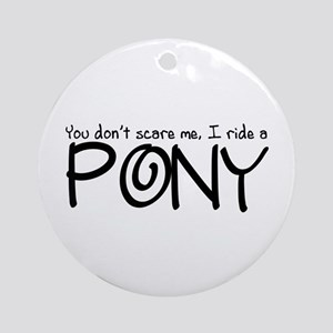 Pony Ornament (Round)