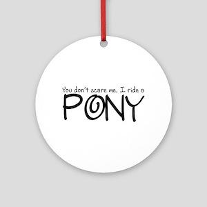 Pony Ornament (Round)
