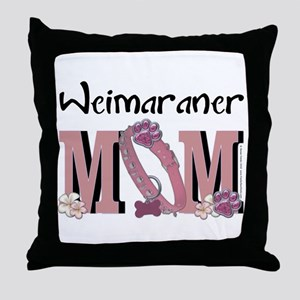 Weimeraner MOM Throw Pillow