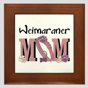 Weimeraner MOM Framed Tile