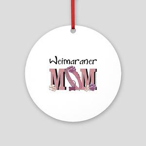 Weimeraner MOM Ornament (Round)