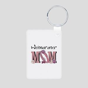 Weimeraner MOM Aluminum Photo Keychain