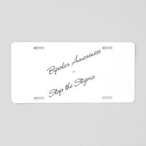 Bipolar Awareness Aluminum License Plate