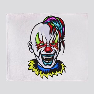 Vampire Evil Clown Throw Blanket