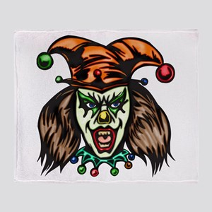 Mentally Unstable Evil Clown Throw Blanket