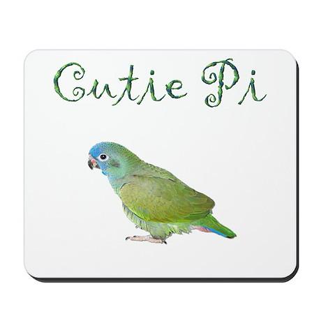 Cutie Pi (Pionus Parrot) Mousepad