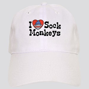 I Love Sock Monkeys Cap