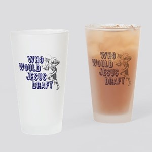 Fantasy Football Jesus Draft Drinking Glass