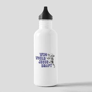 Fantasy Football Jesus Draft Stainless Water Bottl