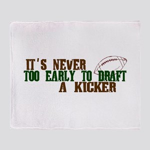 Fantasy Football Draft Kicker Throw Blanket