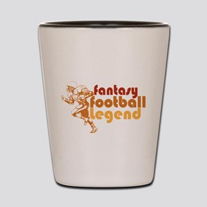 Retro Fantasy Football Legend Shot Glass