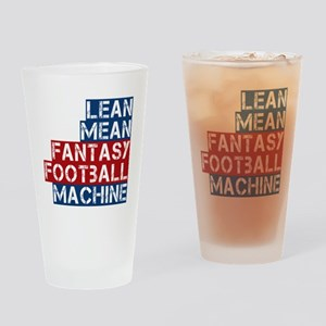Fantasy Football Machine Drinking Glass