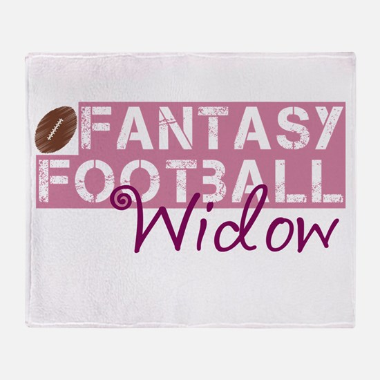 Fantasy Football Widow Throw Blanket