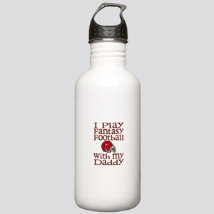 Fantasy Football with Daddy Stainless Water Bottle