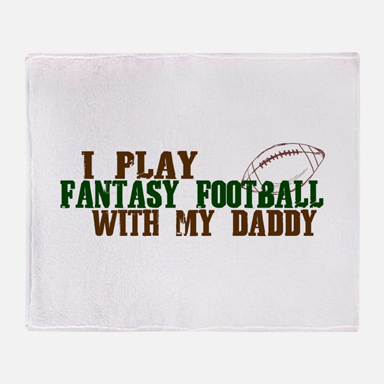 Fantasy Football with Daddy Throw Blanket