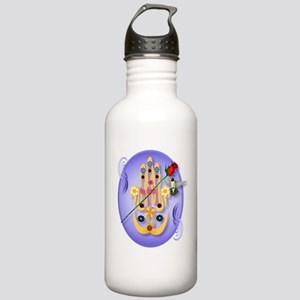 Hamsa and Flowers Stainless Water Bottle 1.0L