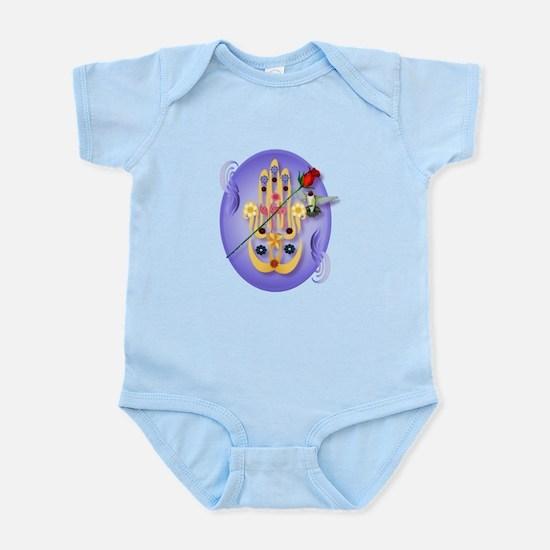 Hamsa and Flowers Infant Bodysuit
