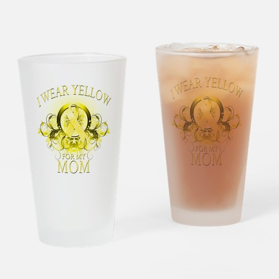 I Wear Yellow for my Mom (flo Drinking Glass