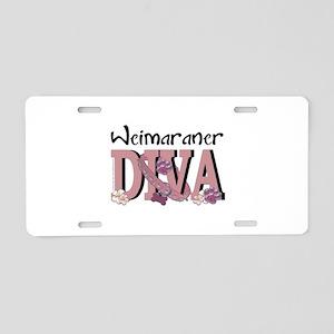 Weimeraner DIVA Aluminum License Plate