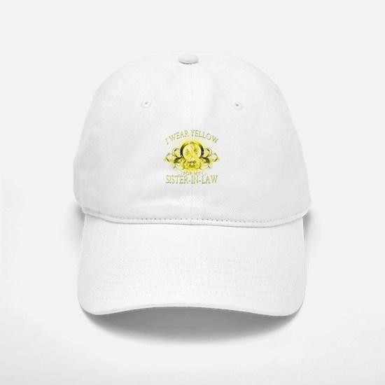 I Wear Yellow for my Sister I Baseball Baseball Cap