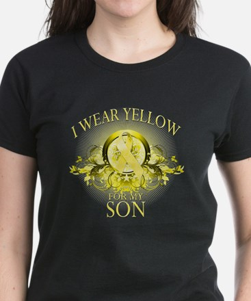 I Wear Yellow for my Son (flo Women's Dark T-Shirt