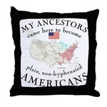 Just plain American Throw Pillow