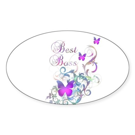 Best Boss Sticker (Oval 10 pk)