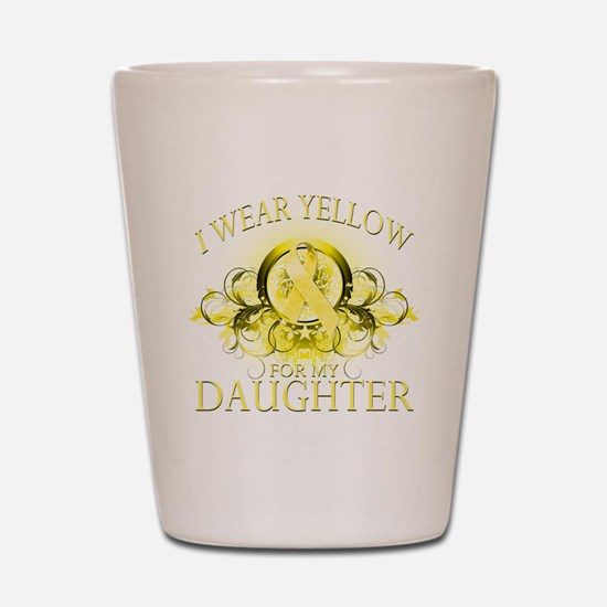 I Wear Yellow for my Daughter Shot Glass