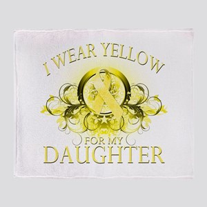 I Wear Yellow for my Daughter Throw Blanket