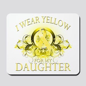 I Wear Yellow for my Daughter Mousepad