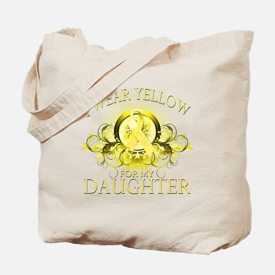 I Wear Yellow for my Daughter Tote Bag