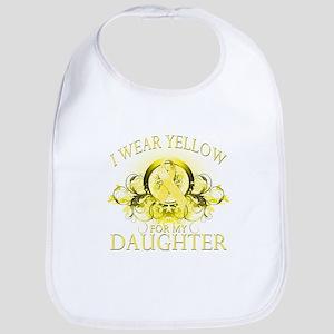 I Wear Yellow for my Daughter Bib