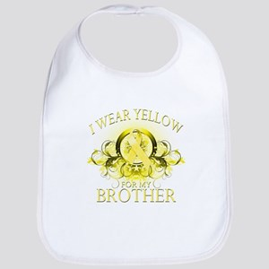 I Wear Yellow for my Brother Bib