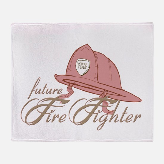 Future Fire Figher Throw Blanket