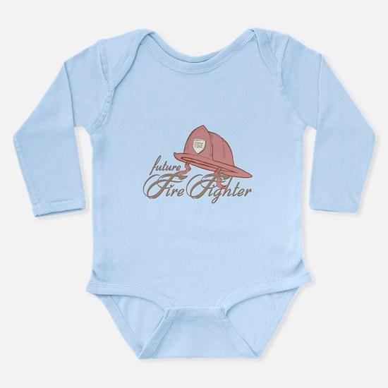 Future Fire Figher Long Sleeve Infant Bodysuit